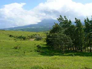 The dormant Tenorio Volcano as seen from the lots.
