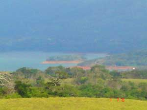 Here's a view of Lake Arenal from one of the El Bosque lots.