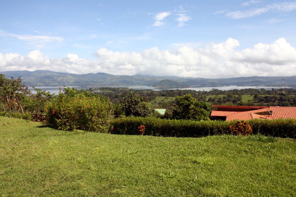 The views stretch far to the north and south on the 20-mile-long Lake Arenal