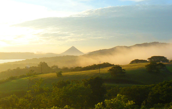 Arenal Volcano as seen from San Luis area.