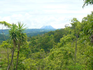 Here's another view of the Arenal Volcano from the hill below the house.