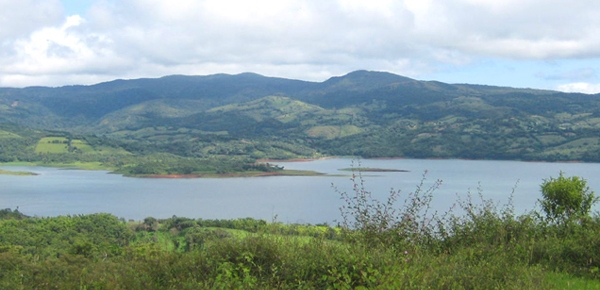 The lot, high on the Tejona hills near Hotel Tilawa, has wonderful lake and volcano views.