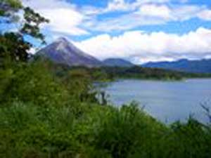 Arenal Volcano is a prominent sight from these lots.