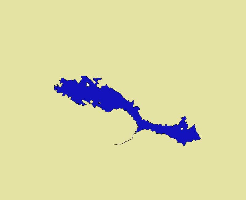 Map of Lake Arenal