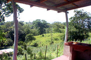 The patio at the back has a nice territorial view, which includes a bit of Lake Arenal.