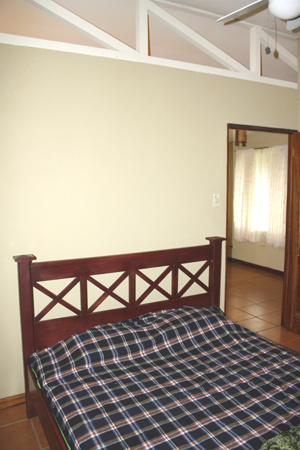The bedroom with double bed.