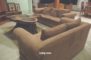 The living room furniture provides high quality comfort.